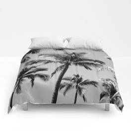 Black Palm Trees Comforters