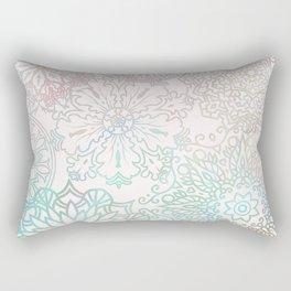 Spring blooms mandala Rectangular Pillow