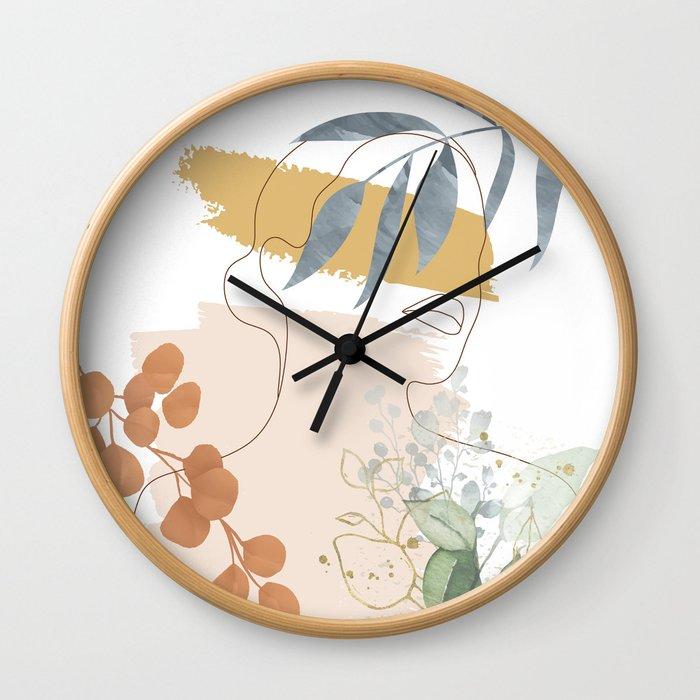 Line in Nature II Wall Clock