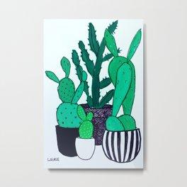 Cactus Grouping Metal Print
