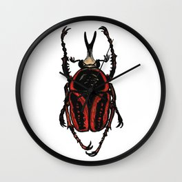 Goliath Beetle Wall Clock