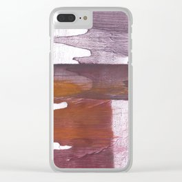 Violet red vague Clear iPhone Case