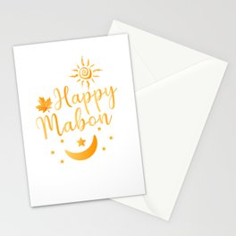 Happy Mabon Day   Gift    Stationery Cards