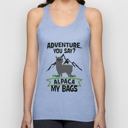 Alpaca My Bags  Travelling Unisex Tank Top