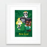 animal crossing Framed Art Prints featuring Animal Crossing: New Leaf by Salzburn Designs Shop