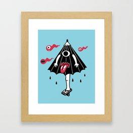 Karakasa Obake and fireballs (Japanese monsters) Framed Art Print