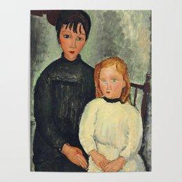 "Amedeo Modigliani ""Les deux filles"" Poster"