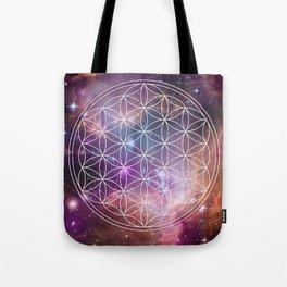 Flower of Life Sacred Geometry Tote Bag