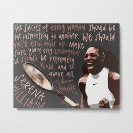 Serena Williams. Metal Print