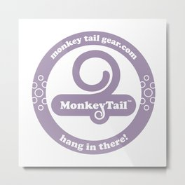 Monkey Tail Gear Logo - 002 Purple Metal Print
