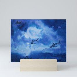 Ink sharks Mini Art Print