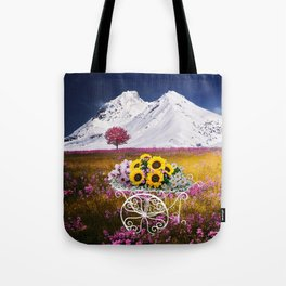 Springtime Flowercart Tote Bag