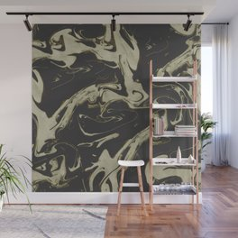 Ruin - Dark Suminagashi Marble Series: 04 Wall Mural