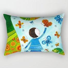 Playing with butterflies Rectangular Pillow