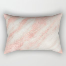 Desert Rose Gold Pink Marble Rectangular Pillow