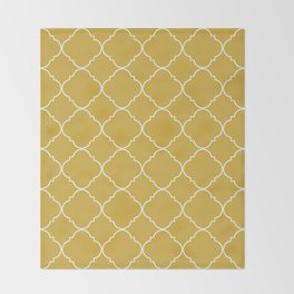 Yellow Moroccan Throw Blanket