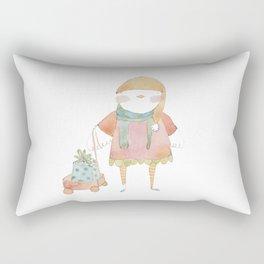 Bird Elf with a Gift Rectangular Pillow