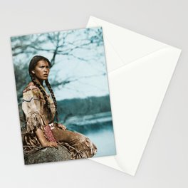 Ponemah by the Lake - Ojibwe Woman - American Indian Stationery Cards