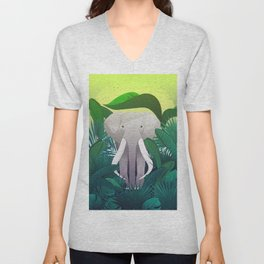 Elephant Jungle Sanctuary Unisex V-Neck