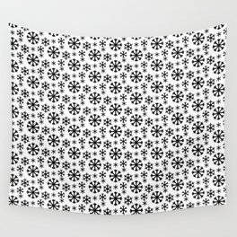 Black Snow Wall Tapestry