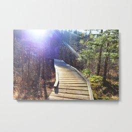Footbridge to Highpeaks  Metal Print