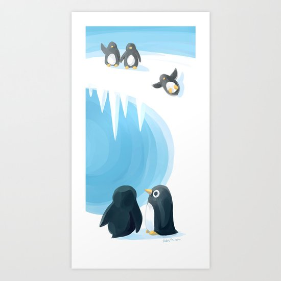 Penguin Playground Art Print