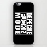 depeche mode iPhone & iPod Skins featuring DM : Depeche Fucking Mode by Luc Lambert