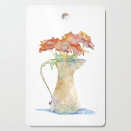 Pitcher of Flowers Cutting Board
