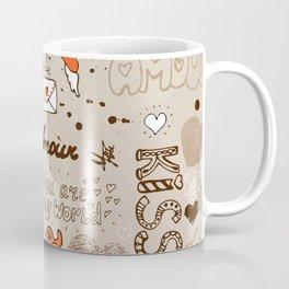 Seamless love letter pattern Coffee Mug
