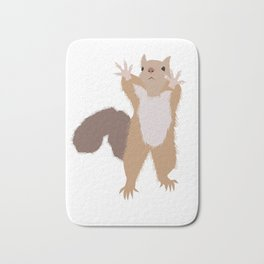 Baesic I Can't Reach Squirrel Bath Mat