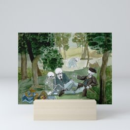 Luncheon on the grass - Manet - Skeleton version Mini Art Print