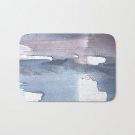 Dark gray colorful watercolor texture Bath Mat