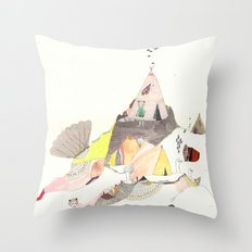 Kids Discover Magic Mountain Throw Pillow