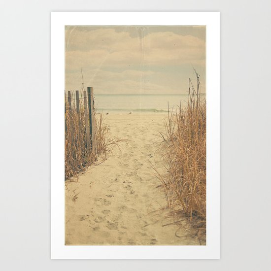 Beach memories Art Print