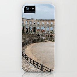 Pula Arena in Istria, Croatia iPhone Case