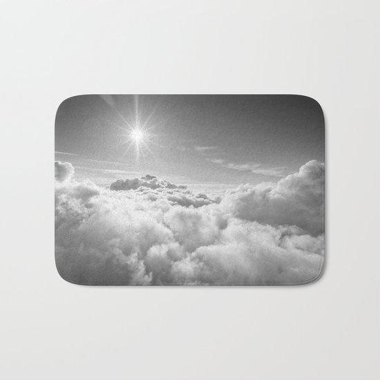 Clouds Gray & White Bath Mat