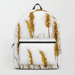 golden wheat field watercolor Backpack