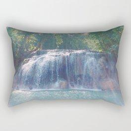 Turquoise Waterfall Rectangular Pillow