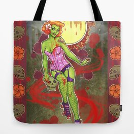Roller Zombie Tote Bag