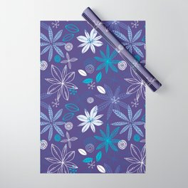 Blue Summer Wrapping Paper