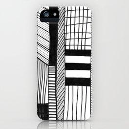 Mono Geo Lines iPhone Case