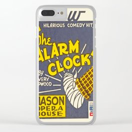 Vintage poster - The Alarm Clock Clear iPhone Case