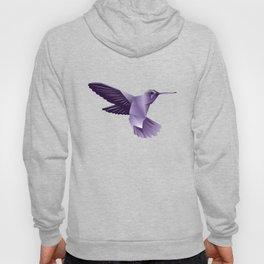 Abstract Purple Hummingbird Hoody