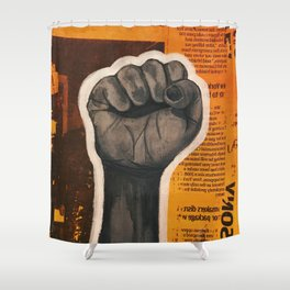 Raised Fist Shower Curtain