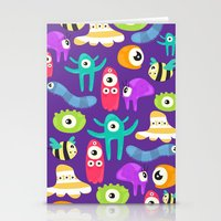 monsters Stationery Cards featuring monsters by Ceren Aksu Dikenci