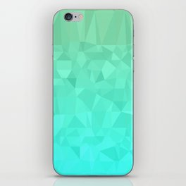 Blue and Orange Ombre - Flipped iPhone Skin
