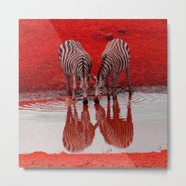 SmartMix Animal-Zebras 2 Metal Print