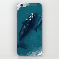 whales iPhone & iPod Skins featuring whales by Daniela Di Gennaro