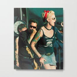 Stephanie Dougherty with the Dropkick Murphy's Metal Print