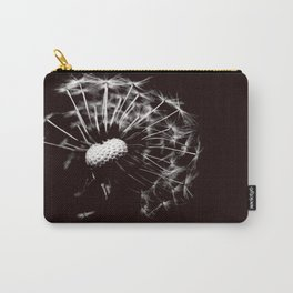 Dandelion Black & White Carry-All Pouch